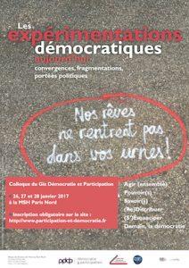 Les expérimentations démocratiques aujourd'hui (St Denis)