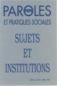 Sujets et Institutions
