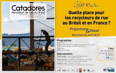 Quelle place pour les recycleurs de rue au Brésil et en France ?