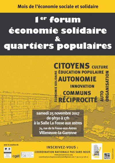 1er Forum sur l'Économie sociale et solidaire dans les quartiers populaires